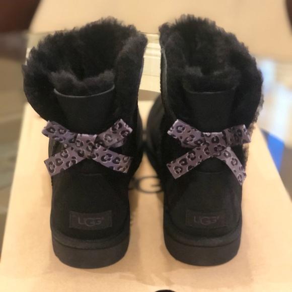 a056ff4ee6b NIB UGG Mini Bailey Bow II exotic boots women 11 NWT